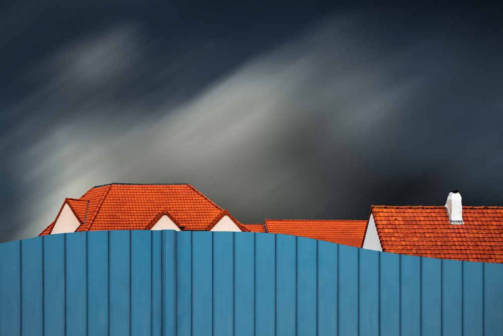 A piece of fine art art photography titled Living Behind the Fence by Gilbert Claes