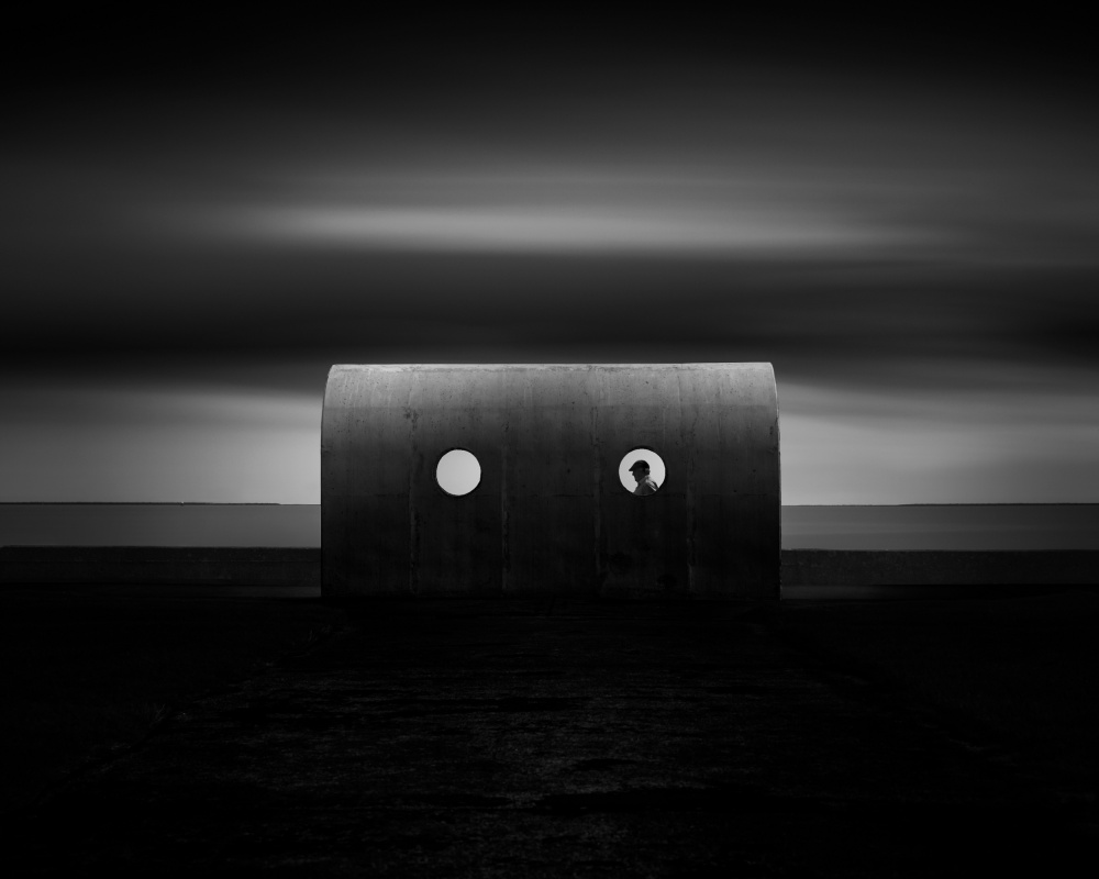 A piece of fine art art photography titled Holes by Hugo Borges