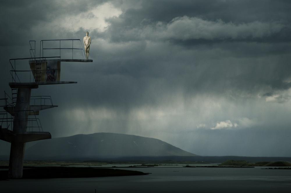 A piece of fine art art photography titled Jumping Jack by Christine von Diepenbroek
