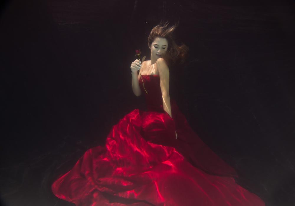 A piece of fine art art photography titled Red Queen by Gabriela Slegrova
