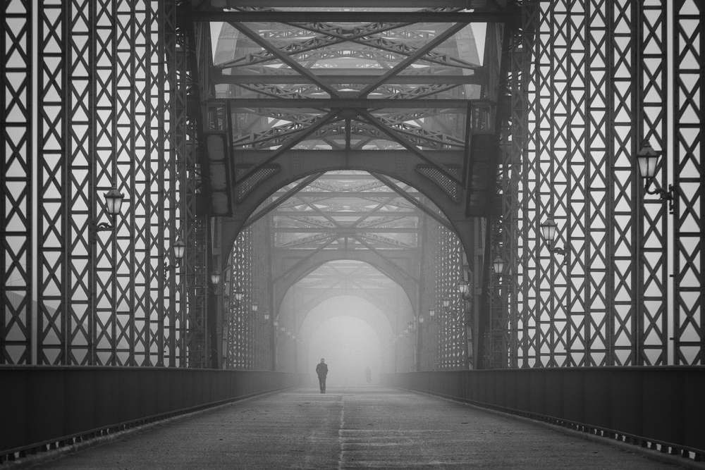 A piece of fine art art photography titled Out of the Mist by Alexander Schönberg