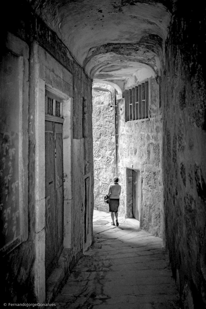A piece of fine art art photography titled Alleyways of Porto by Fernando Jorge Gonçalves