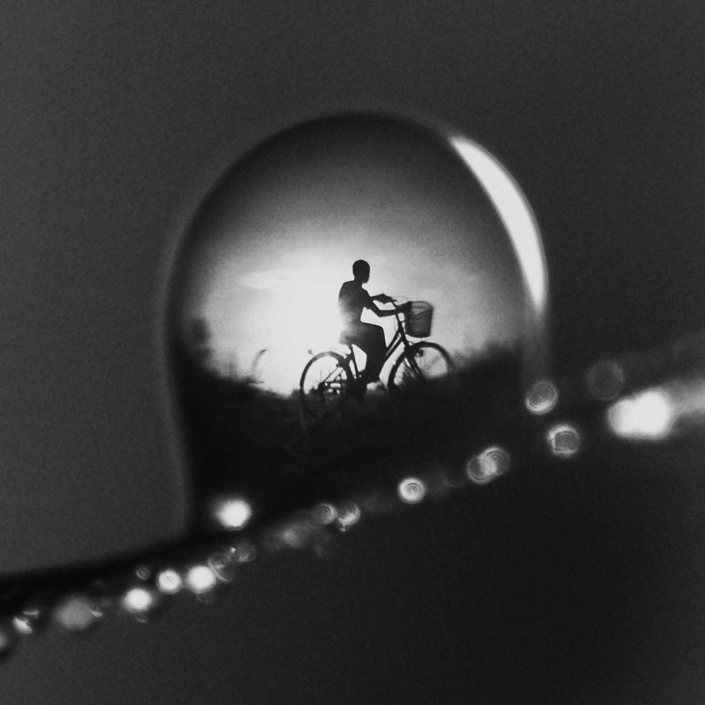 A piece of fine art art photography titled Ride a Bicycle by Wahyu Budiyanto Toak