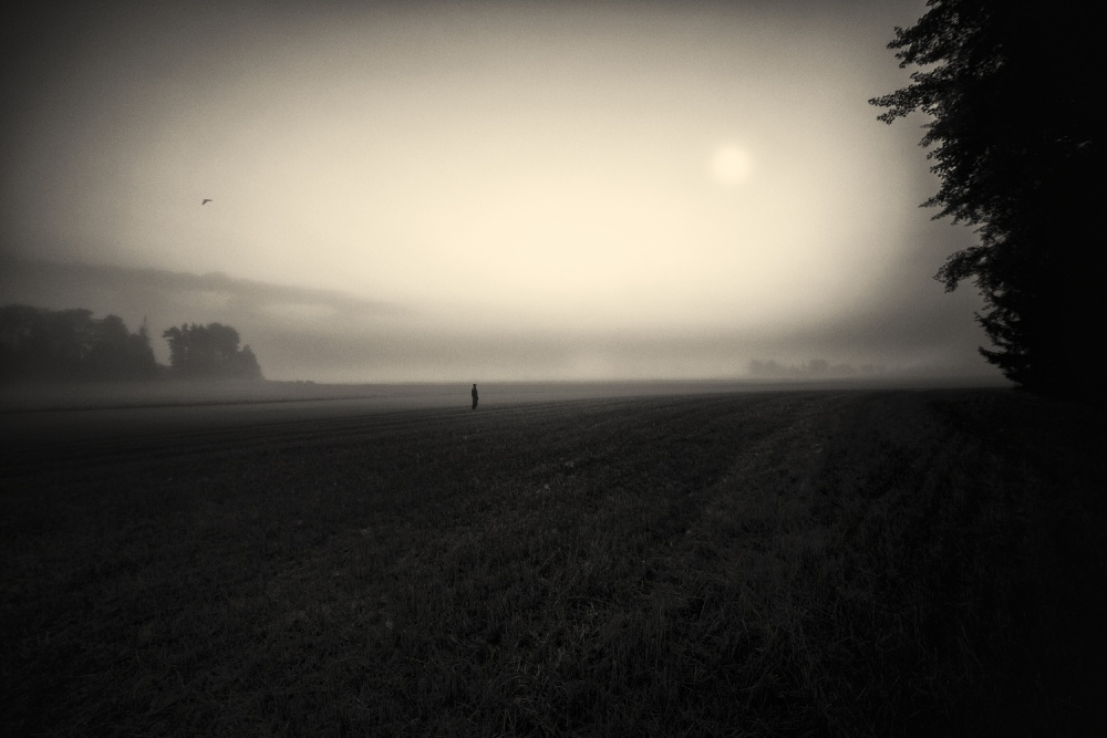 A piece of fine art art photography titled Lonely  Boy(I Miss You Dad) by Mika Suutari