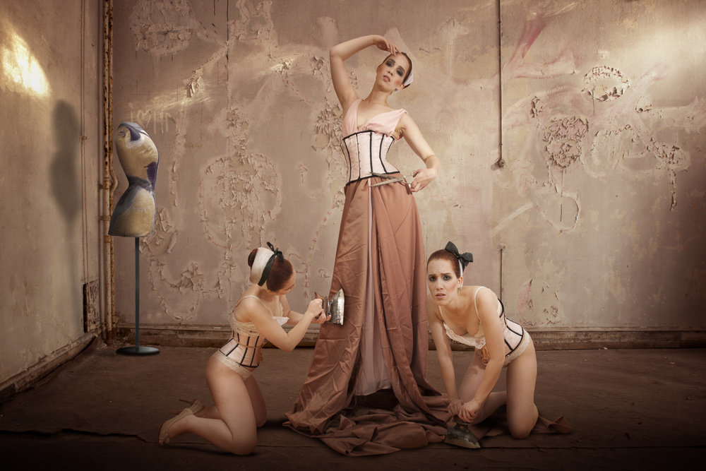 A piece of fine art art photography titled The Ironers by Christine von Diepenbroek