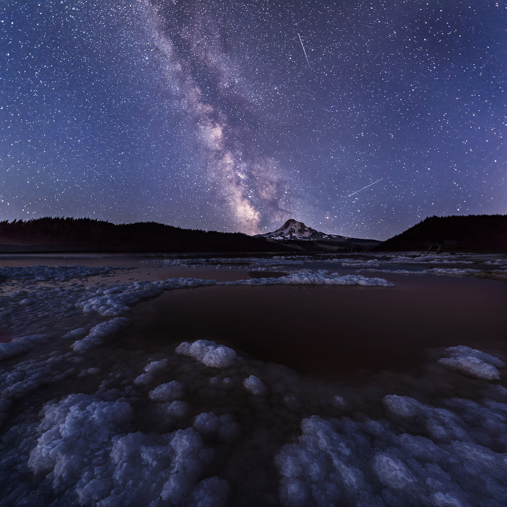 A piece of fine art art photography titled The Milky Way In Late Summer by Annie Poreider
