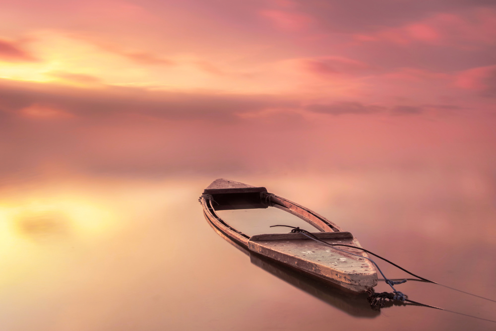 A piece of fine art art photography titled The Boat by Joaquin Guerola