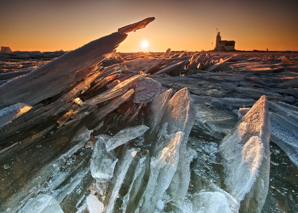 A piece of fine art art photography titled Ice Palace by Jacco Herzog