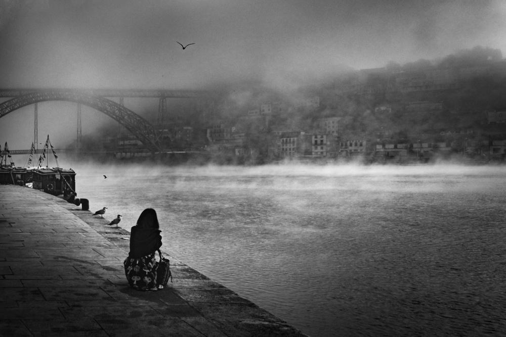 A piece of fine art art photography titled Inside the Fog! by Fernando Jorge Gonçalves
