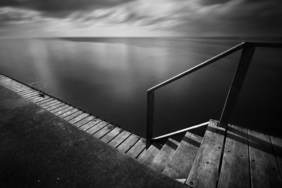 A piece of fine art art photography titled The Pier by Christin Gilbert