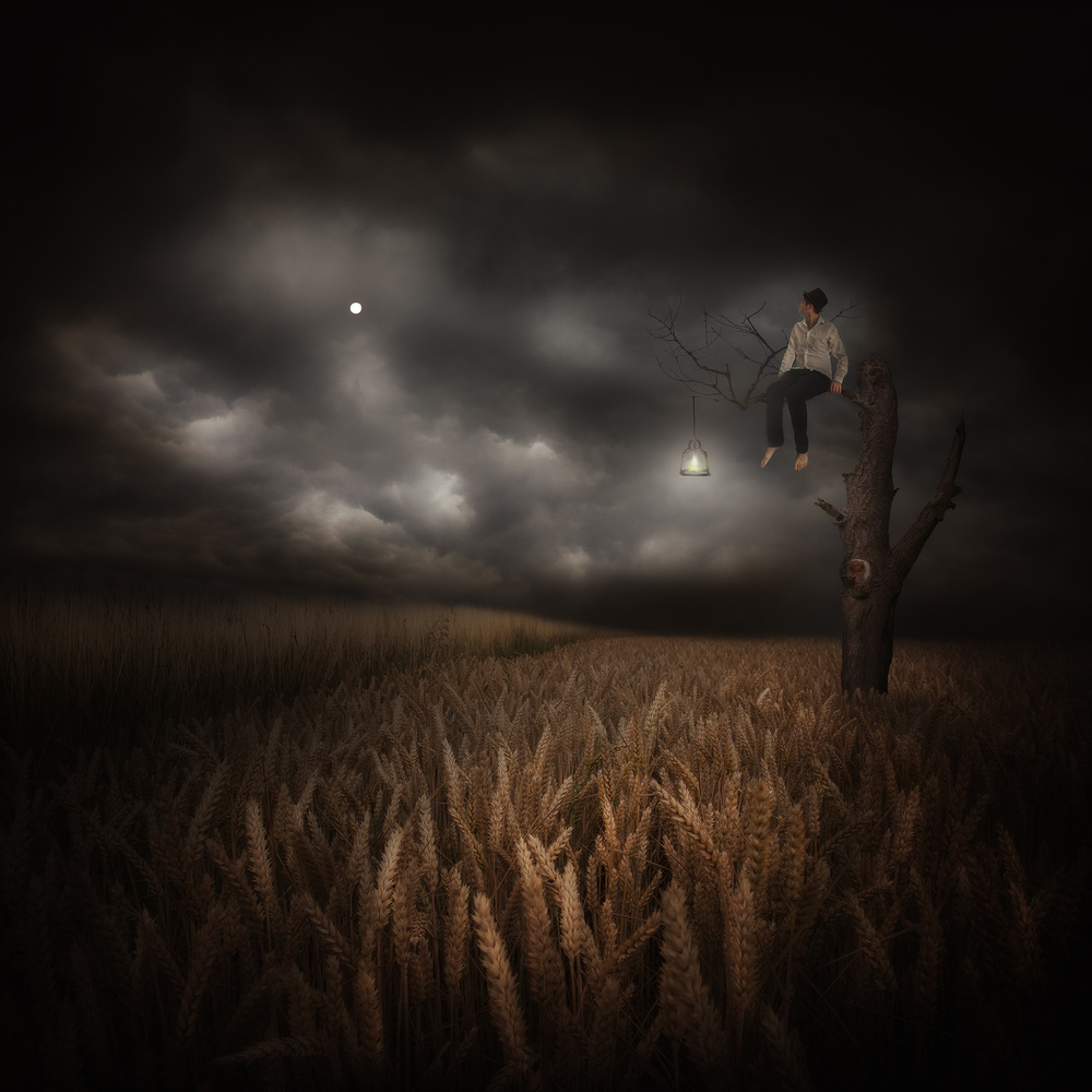 A piece of fine art art photography titled Where My Silence Hide by Martin Marcisovsky