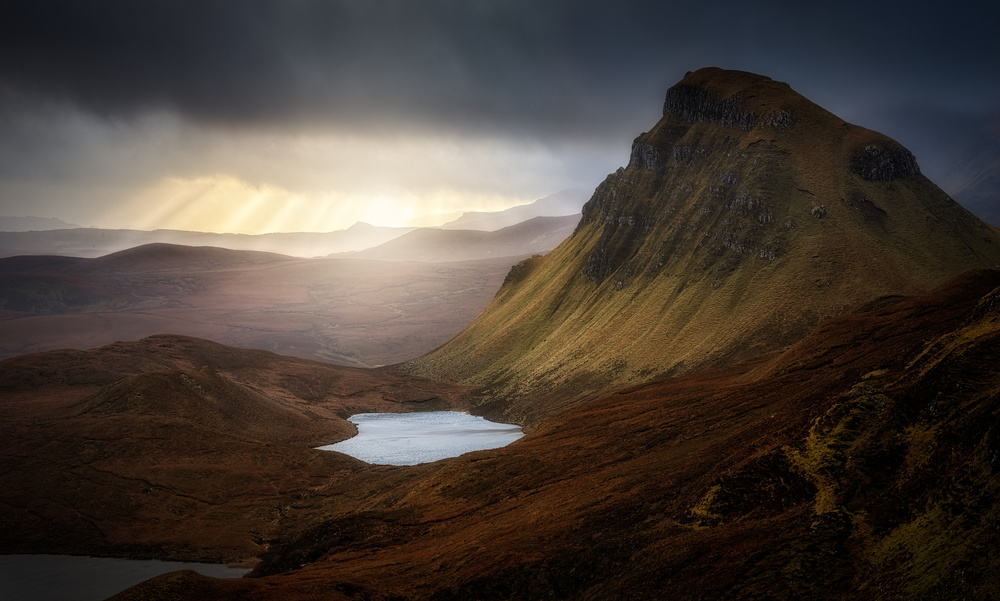 A piece of fine art art photography titled Trotternish Ridge Light #2 by Matt Anderson
