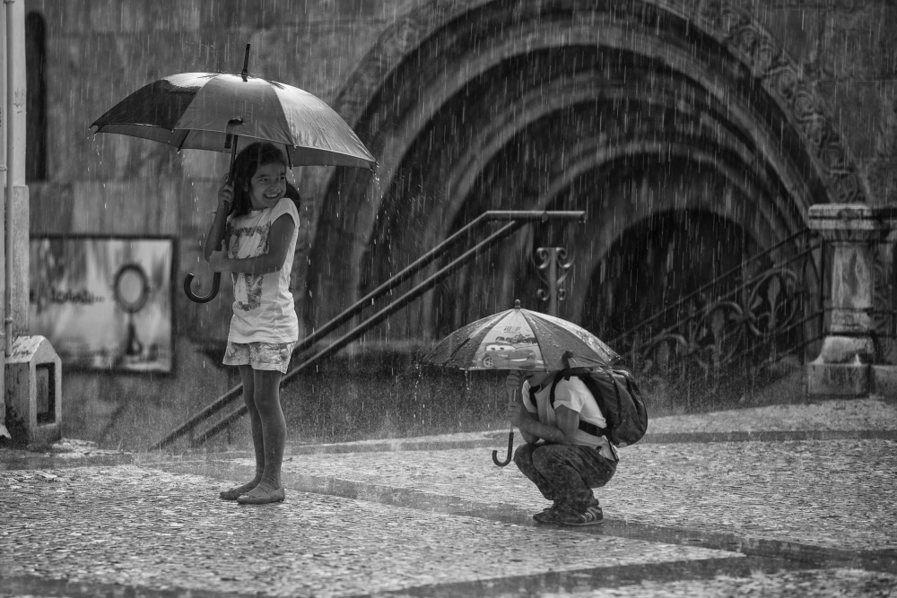 A piece of fine art art photography titled When Rain Is Happiness by João Gonçalves