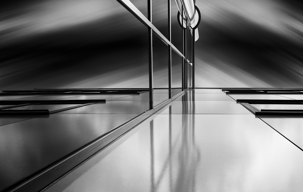 A piece of fine art art photography titled Lines and Reflections by Greetje van Son