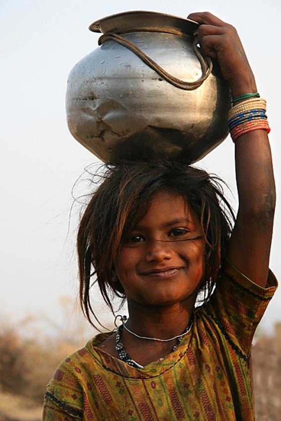 A piece of fine art art photography titled Simplicity-desert Girl by sasson haviv