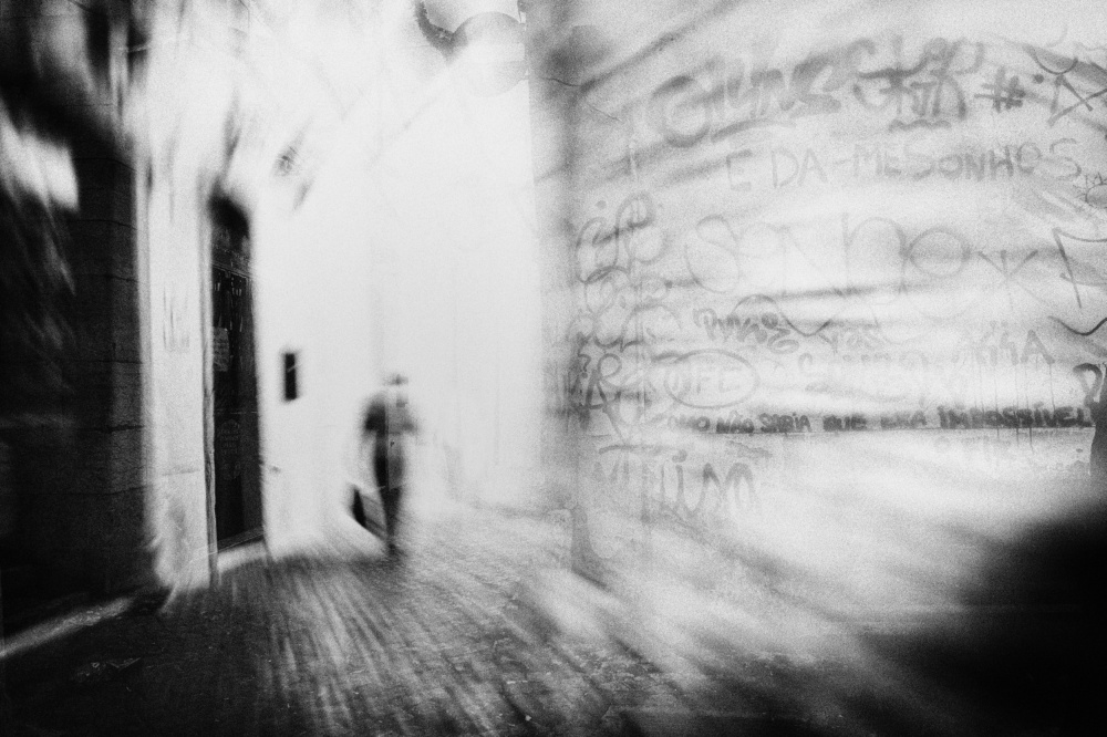 A piece of fine art art photography titled The Ghosts of Alfama by eric drigny