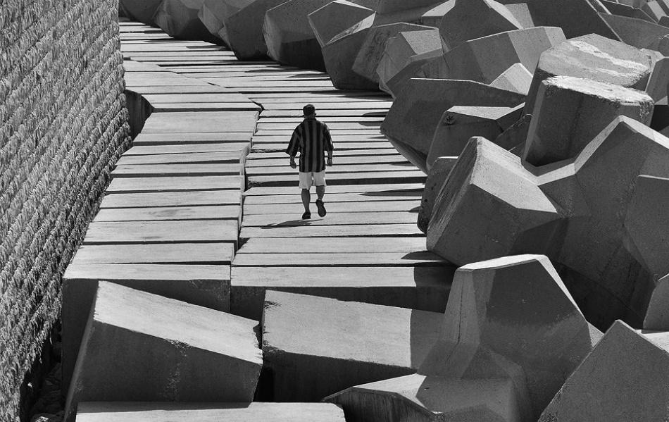 A piece of fine art art photography titled Stripe by Laurent Roch