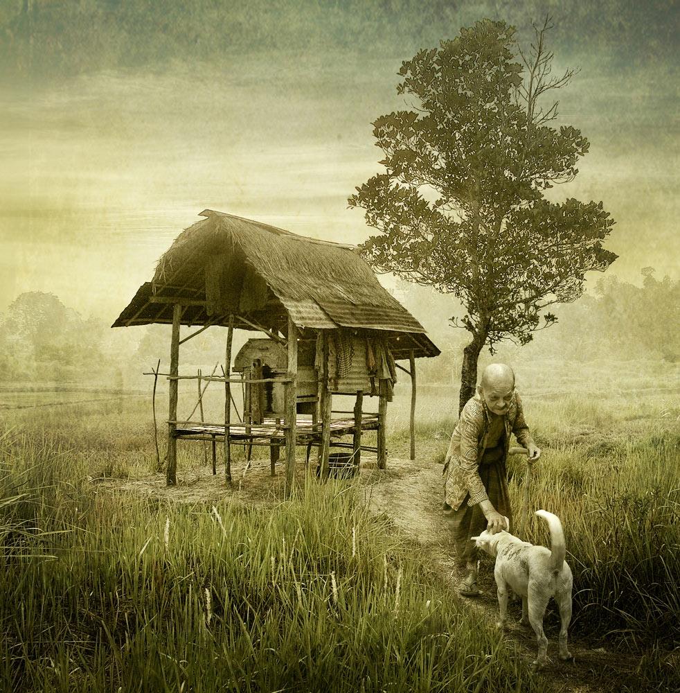 A piece of fine art art photography titled Odah Pakok by Ketut Manik