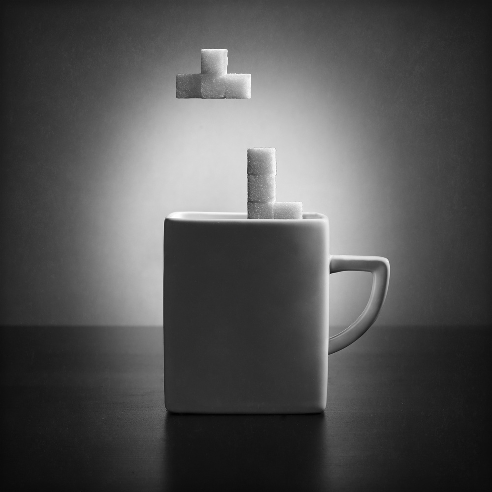 A piece of fine art art photography titled Tea Tetris (version 2) by Victoria Ivanova