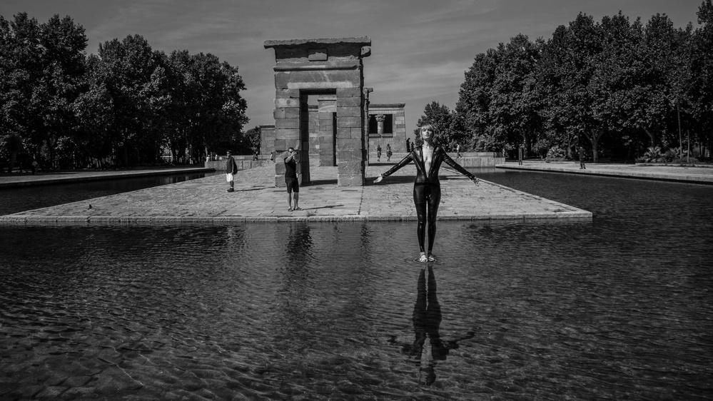 A piece of fine art art photography titled Illuminati: the Walk by Alejandro Marcos