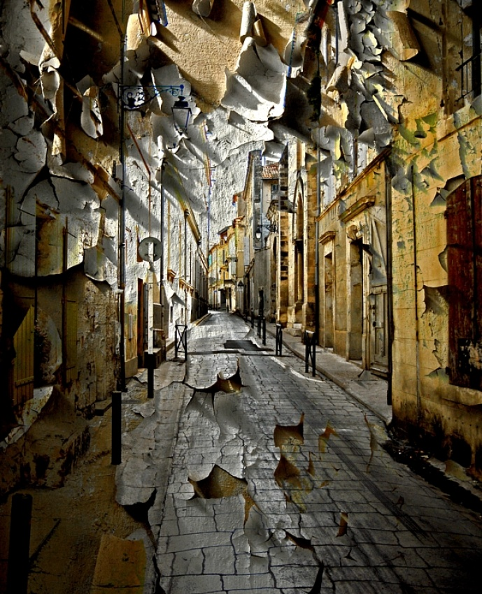 A piece of fine art art photography titled The Street Is Deserted Waste by pascal bobillon
