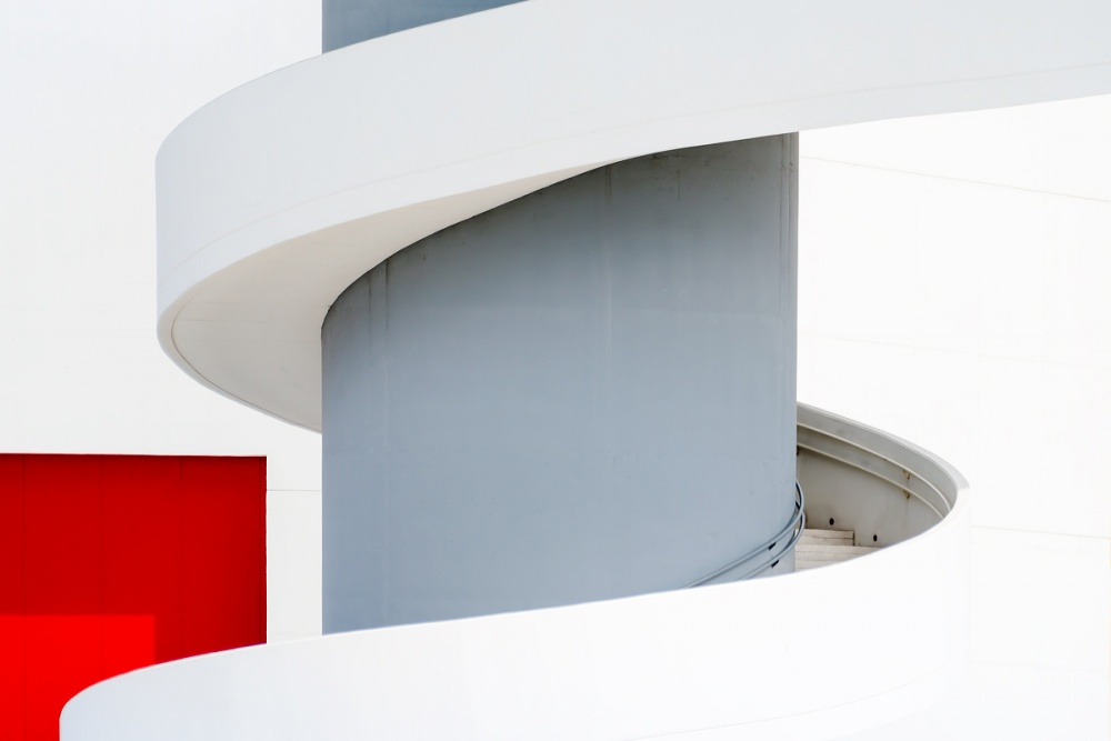 A piece of fine art art photography titled Stairs to Mondrian by Tomás San Andrés