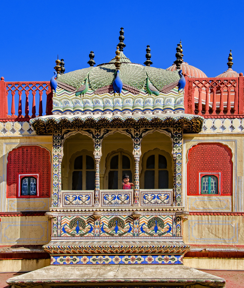 A piece of fine art art photography titled Decorated Palace Balcony by Miro Susta