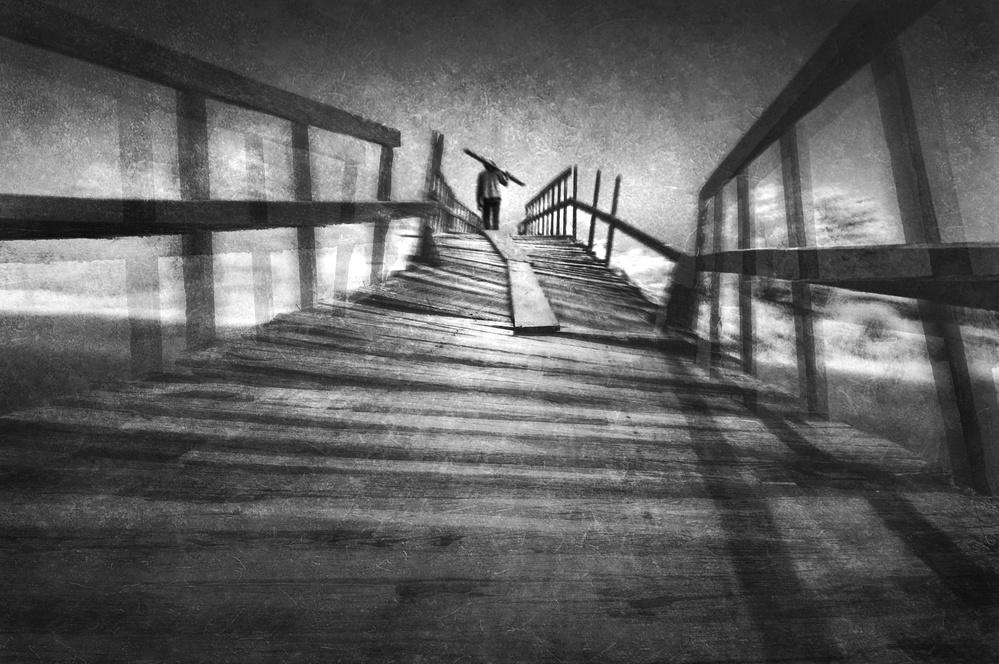 A piece of fine art art photography titled Working On the Edge by Ekkachai Khemkum