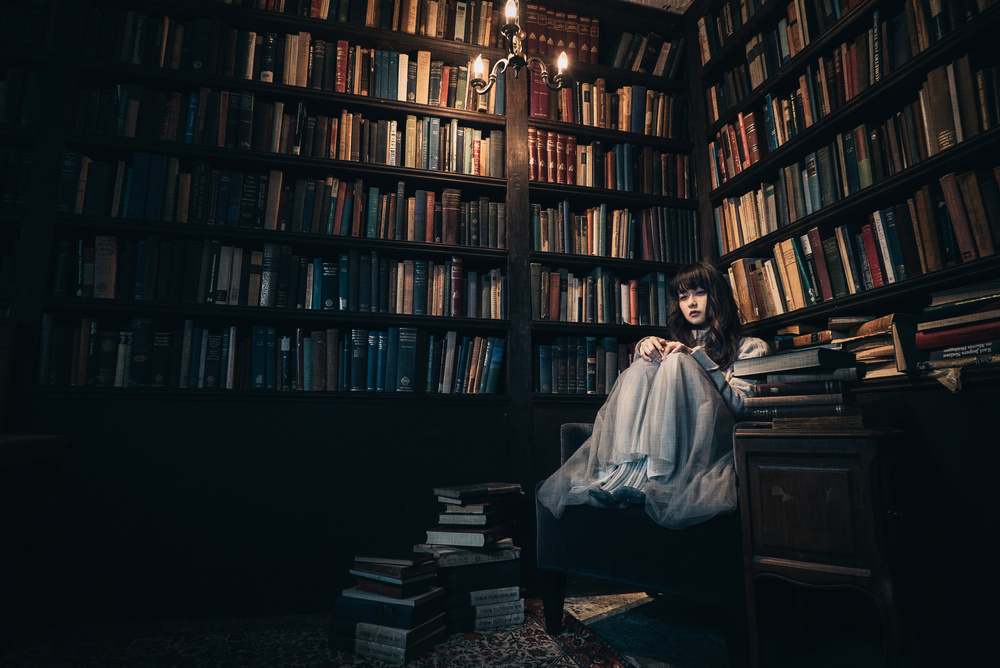 A piece of fine art art photography titled She Is Always There by Yasuhiro Ujiie