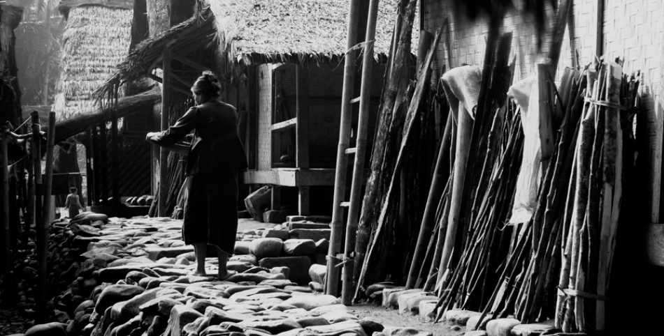 A piece of fine art art photography titled Ordinary Day In Baduy Village by Diah Ari Tapaningtyas