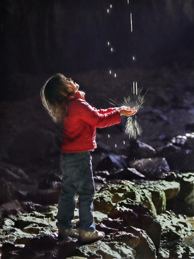 A piece of fine art art photography titled Lightdrops by Matjaz Cater