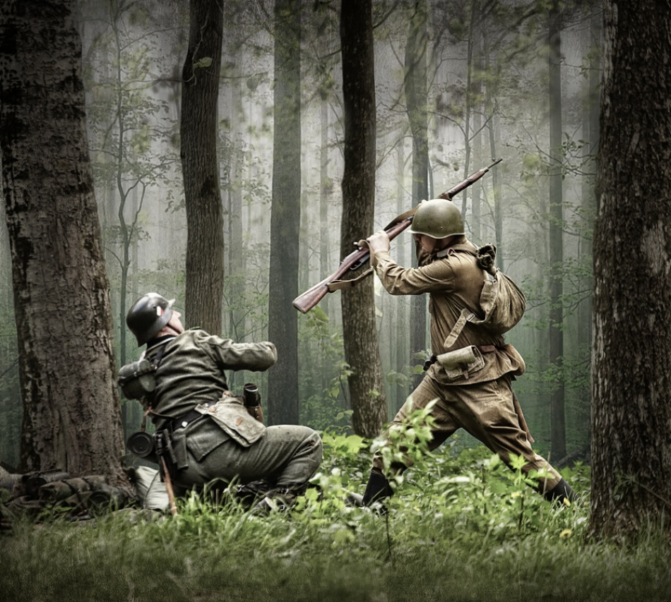 A piece of fine art art photography titled Combat by Dmitry Laudin