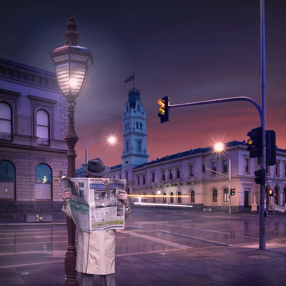 A piece of fine art art photography titled I Rise I Read by Adrian Donoghue