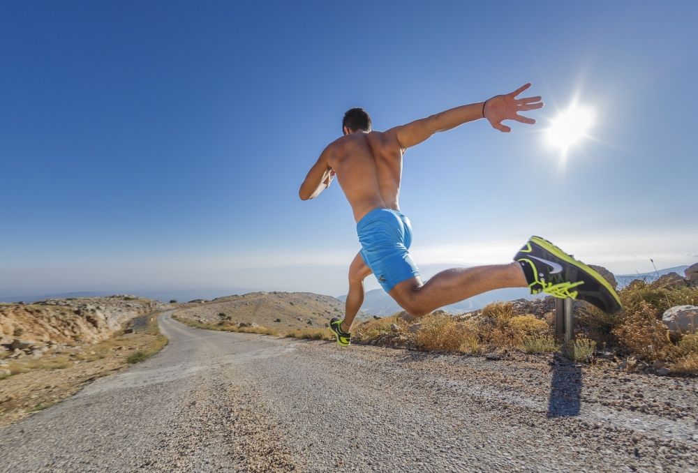 A piece of fine art art photography titled Mountain Running by Elad Nissim