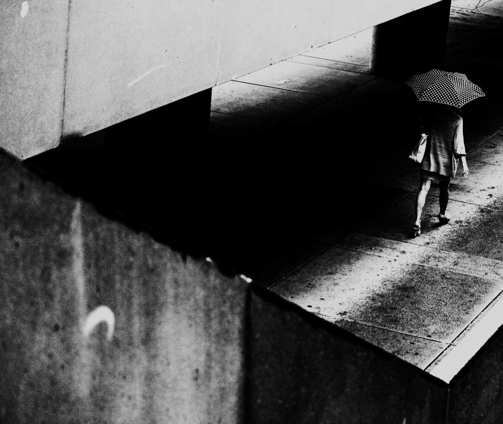 A piece of fine art art photography titled Walking Along by Jian Wang