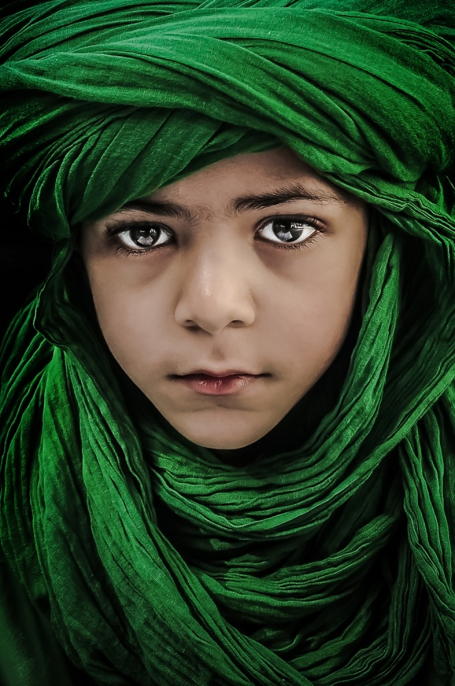 A piece of fine art art photography titled Green Boy by Saeed Dhahi