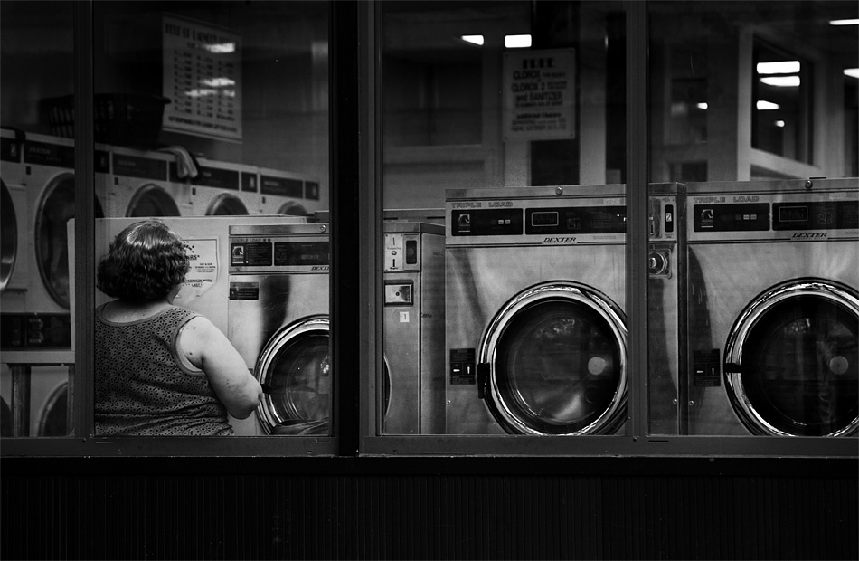 A piece of fine art art photography titled Laundromat by gallarotti