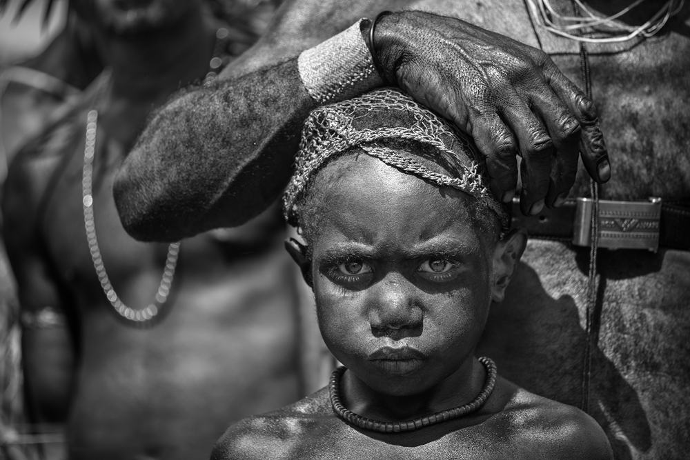 A piece of fine art art photography titled Son of Papua by Gunarto Song