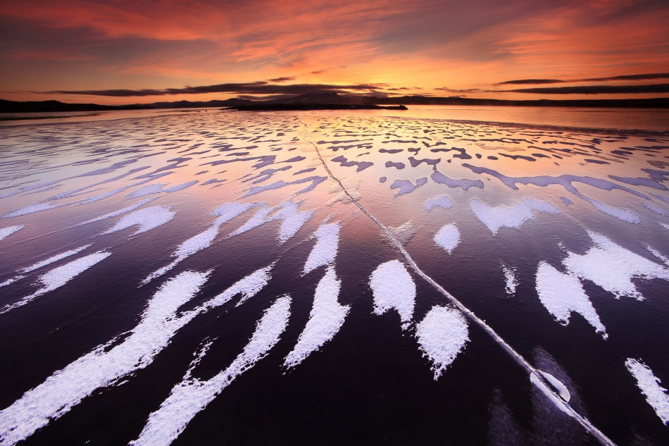 A piece of fine art art photography titled Tiger Lake by Örvar Atli Þorgeirsson