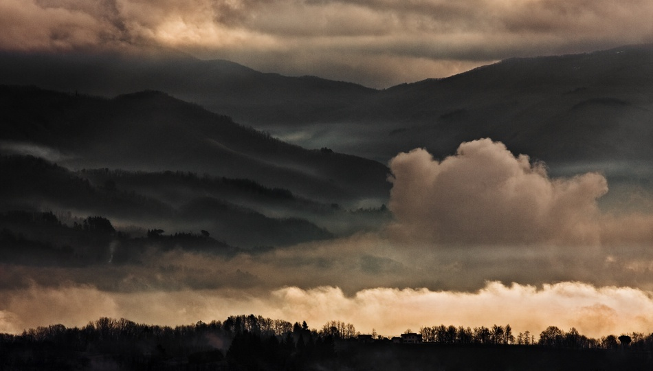 A piece of fine art art photography titled High Tuscany by andrea lorenzetti