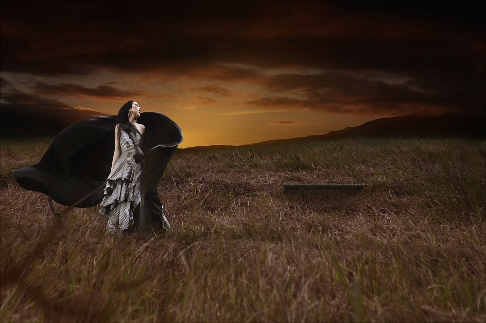 A piece of fine art art photography titled The Lost Tomb by ISKANDAR ART