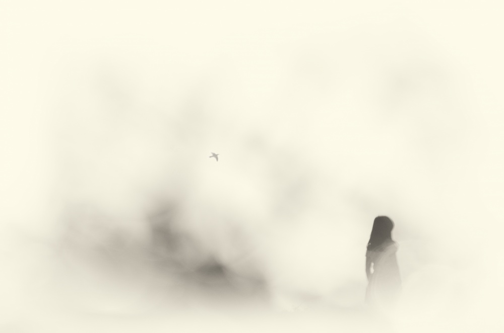 A piece of fine art art photography titled Silent Moment by Akitoshi Sasakura