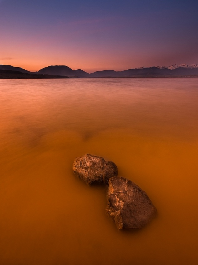 A piece of fine art art photography titled Orange Sea :) by Matus Hrubovsky