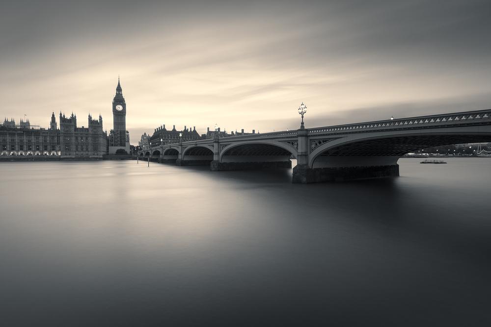 A piece of fine art art photography titled Westminster Twilight by Artur Szczeszek