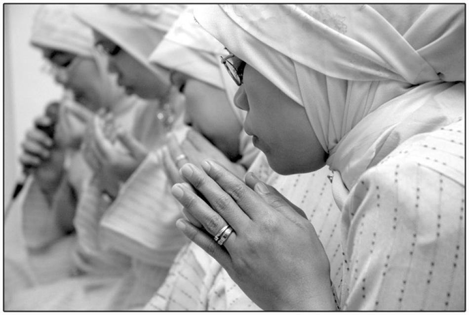 A piece of fine art art photography titled Praying by Bayu Pramana Hary