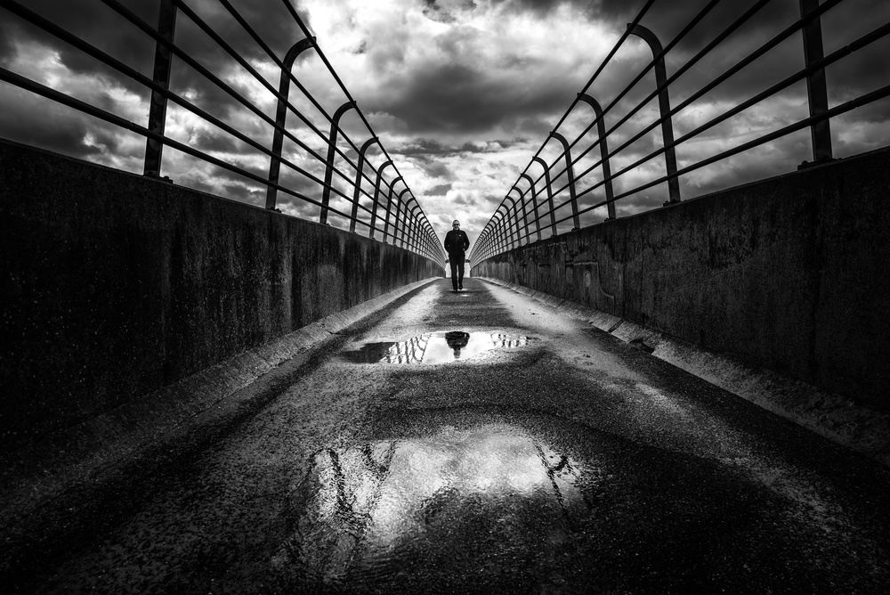A piece of fine art art photography titled In Between by Christophe Staelens