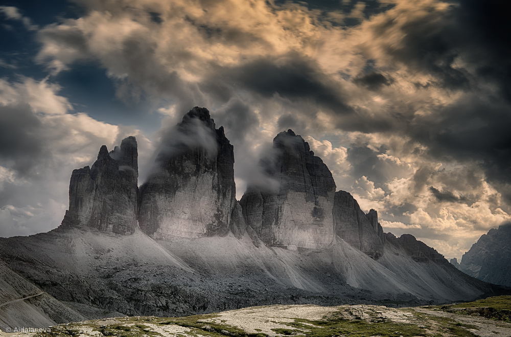 View this piece of fine art photography titled Le tre cime di Lavaredo by Aida Ianeva