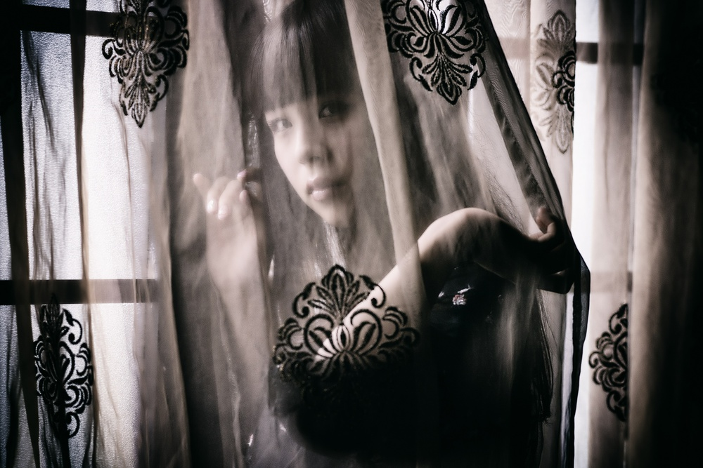 A piece of fine art art photography titled Hidden In a Veil by 7 Flavor C/P
