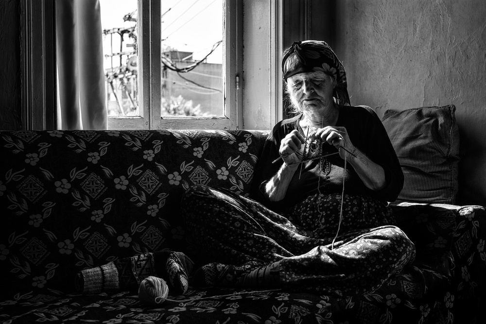A piece of fine art art photography titled Ayşe Aunt by Yasemin Bakan