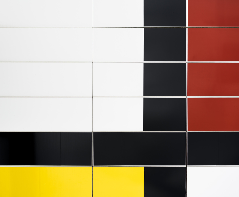 A piece of fine art art photography titled Mondriaan Facade by Greetje van Son